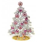 Xmas Tree Standing Decoration 2020 #08 Clear Pink