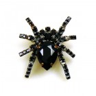 Tiny Spider Pin Medium ~ Black