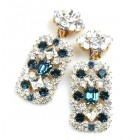 Zara Clips-on Earrings ~ Clear Crystal with Montana