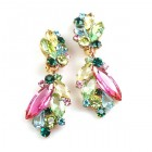 Prelude Earrings Clips ~ Pink Multicolor