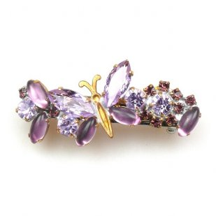 Barrette Clip with Butterfly ~ Purple Violet