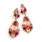 Mythique Earrings for Pierced Ears ~ Pink Tones and Pink