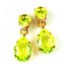 Raindrops Earrings Clips ~ Citrine