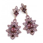 Emotion Lace Earrings Pierced ~ Purple