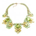 Iris Grande Necklace ~ Lime and Yellow
