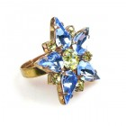 True Love Ring ~ Sapphire with Yellow