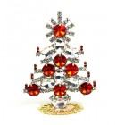 Xmas Tree Standing Decoration 2019 #20 ~ Red Rivoli Clear