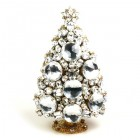Extra Tall Huge 3 Dimensional Xmas Tree ~ Clear Crystal