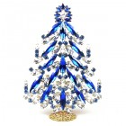 2020 Xmas Tree Decoration 18cm Navettes ~ Blue Clear