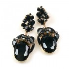 Fiore Pierced Earrings ~ Black