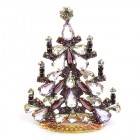 Xmas Tree Standing Decoration 2020 #03 ~ Violet Clear Crystal