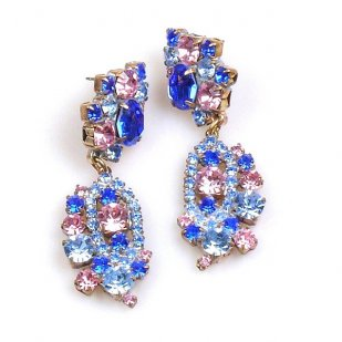 Magical Eyes Earrings for Pierced Ears ~ Blue Pink