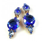 Taj Mahal Earrings Clips ~ Blue