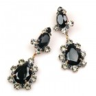Heritage of History Earrings Pierced ~ Black