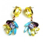 Close to Heaven Pierced Earrings ~ Yellow Multicolor
