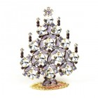 Rivoli Xmas Stand-up Tree 9cm ~ Clear Purple