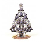 Xmas Tree Standing Decoration 2019 #19 ~ Purple Violet Clear