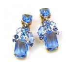 Emilee Earrings Clips ~ Light Sapphire