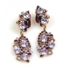 Magical Eyes Earrings for Pierced Ears ~ Purple Violet