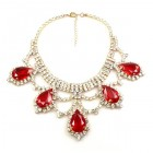 Majesty Necklace ~ Clear Crystal Red