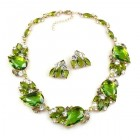 Nike Necklace Set with Earrings ~ Green