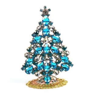 Xmas Tree Standing Decoration 2020 #19 ~ Aqua Clear Crystal