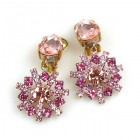 Zodiaque Earrings Clips ~ Pink