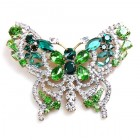 Grand Butterfly ~ Clear Green ~ Extra Big