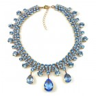 Raindrops Necklace ~ Light Sapphire