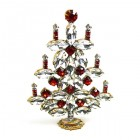 Xmas Tree Standing Decoration 2018 #15 ~ Clear Red