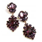 Aztec Sun Earrings Pierced ~ Purple