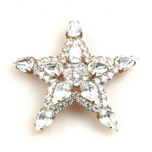 Christmas Star Brooch or Hanging Decoration ~ Bigger
