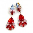 Fancy Essence Earrings Clips ~ Red Sapphire