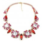 Empathy Necklace ~ Fuchsia Red Clear Crystal