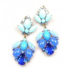 Sweetness Earrings Pierced ~ Blue Azure