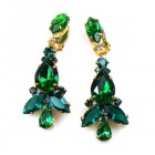 Sophia Earrings Clips ~ Emerald