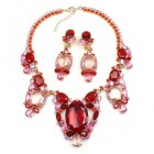 Omnia Necklace Set ~ Red Pink