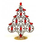 Xmas Tree Decoration Rings and Navettes ~ Clear Red