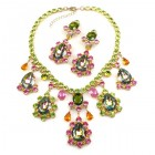 Heritage of History Set with Earrings ~ Vitral Multicolor