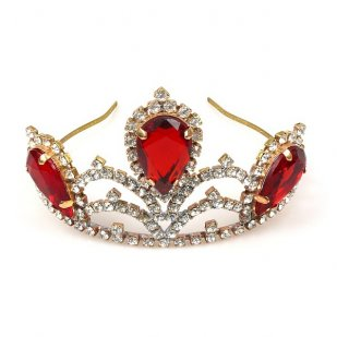 Majesty Tiara ~ Clear Crystal Red