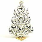 2018 Xmas Tree Decoration 23cm Hearts ~ Clear Crystal