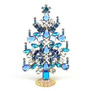 Xmas Tree Standing Decoration 2019 #06 ~ Clear Blue