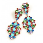 Enigma Earrings for Pierced Ears ~ Mint Multicolor