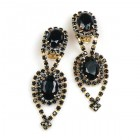 Moonglow Earrings with Clips ~ Black