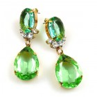 Effervescence Earrings for Pierced Ears ~ Green