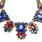 Iris Grande Necklace ~ Montana Blue Ruby Red