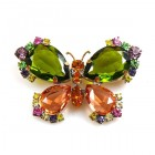 Butterfly Multicolor Brooch ~ #5