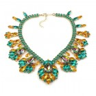 Fancy Essence Necklace ~ Emerald Topaz Vitrail