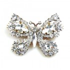 Butterfly Brooch ~ Clear Crystal