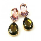 Effervescence Earrings for Pierced Ears ~ Smoke Pink